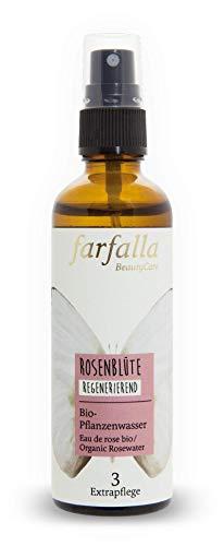 Farfalla Rosenwasser, 100% Naturreines Rosen-Hydrolat, Regenerierend, 75 Ml