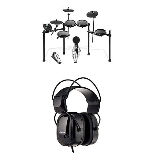 Alesis Nitro Mesh Kit + DRP100 - Batería Electrónica Musical de 8 Piezas con Parches de Malla, 385 Sonidos, 60 Pistas para tocar, Baquetas, Llave de batería & Auriculares para batería electrónica