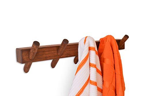 Wandhaak Rack Rustieke Decoratieve Handdoek Hangende Jas Rack Hoeden Handtassen Rugzakken Muur gemonteerde Jas Hoed Rack Haken Mooie Houten Ingang Hanger Pegs Houten Slaapkamer Badkamer