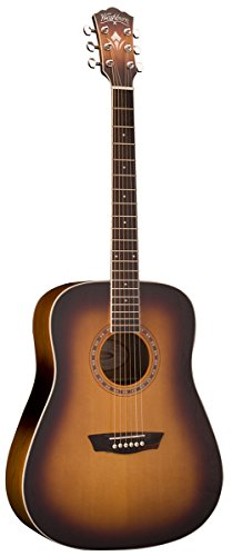 Washburn WD7S Harvest Series Grand Auditorium Acoustic Guitar - Tobacco Sunburst.