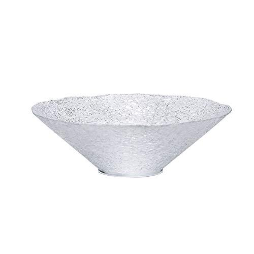 ZLSP Ensalada corrugado Bowl, Inicio de frutas Plato vegetal tazón de vidrio transparente Postre Tazón Tazón ZLSP