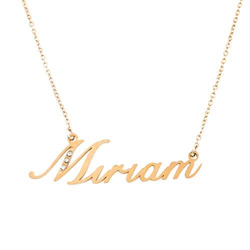 Kigu Miriam Nome Collana Personalizzata - Tono Oro