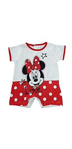 Sicem International Srl Pijama y conjunto corto para niño y niña, de verano, de algodón, de punto, para recién nacido y bebé, varios modelos B2WD101757 Rojo 0-3 meses