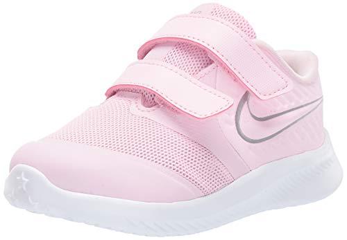 Nike Unisex Baby Star Runner 2 (TDV) Sneaker, Pink (Pink Foam/Metallic Silver-Violet 601), 25 EU
