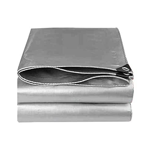 AWSAD Lona Impermeable Resistente Lona con Aluminio Ojales Refugio Protector de Cubierta Resistente A Los Rayos UV para Coches, Barcos, Campistas, 26Tamaños (Color : Silver, Size : 2x2m)