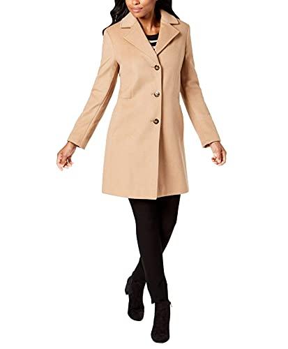 Calvin Klein Womens Cashmere Wool Coat