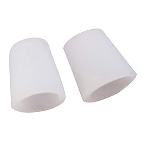 Yinew 2Pcs Zehenschutz, Silikon Zehenärmel Schläuche für Blasen Nägel Ausgabe Reibung Schmerzlinderung
