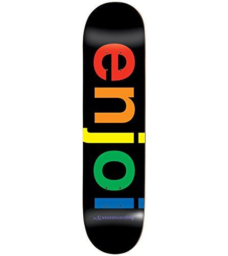 Enjoi Spectrum Black Deck 8.0 Resin 7 Skateboard Decks by Enjoi Skateboards