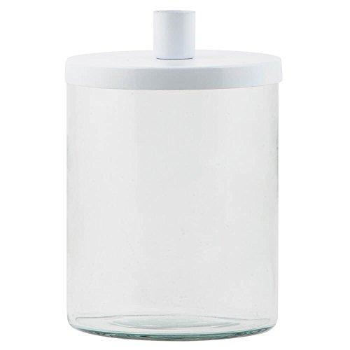 IB Laursen - Kerzenständer/Kerzenhalter mit Vorratsbehälter - Glas - Weiß