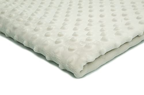Minkee Winky - Tessuto in pile spesso, soffice, 50 x 155 cm, colore: Panna
