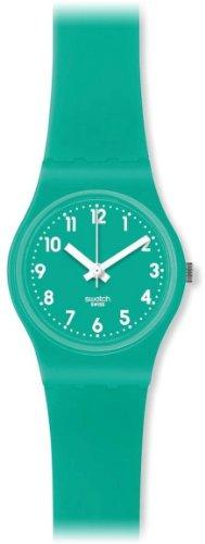 Swatch LL115 - Reloj analógico de Cuarzo para Mujer con Correa de Silicona, Color Verde