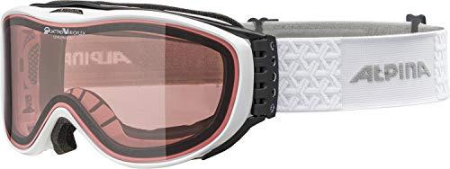 Alpina CHALLENGE 2.0 QV Ski- & snowboardbrillen voor volwassenen, wit, één maat