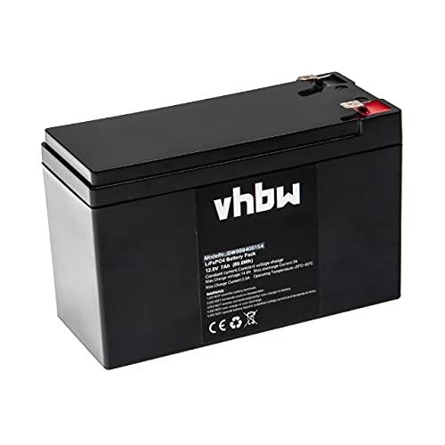 vhbw Batería de a Bordo para Caravana, Barco, Camping, Autocaravana (7 Ah, 12,8 V, LiFePO4)