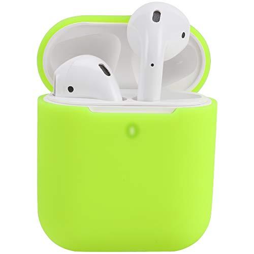 Airpods Custodia in Silicone Compatibile con AirPods 2 Custodia, KOKOKA Silicone Protettiva Case Cover for Airpods [LED anteriore Visibile] - [Supporta la Ricarica Wireless] Bright Yellow