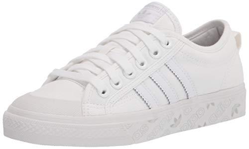adidas Originals Zapatillas Nizza para hombre, blanco (Blanco/Blanco Cristal/Gris), 38 EU