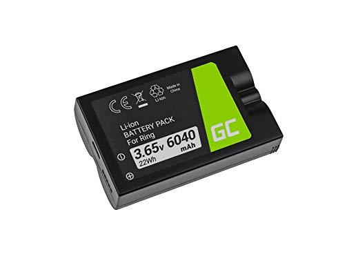 Green Cell® Akku für Ring Video Doorbell 2, Doorbell 3, Doorbell 3 Plus, Spotlight Cam, Stick Up Cam Full Decoded (Li-Ion 6040mAh 3.65V) Ersatz Batterie