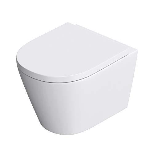 Sogood WC toilette suspendu abattant silencieux lunette de WC de WC Aachen108 36x52x35cm