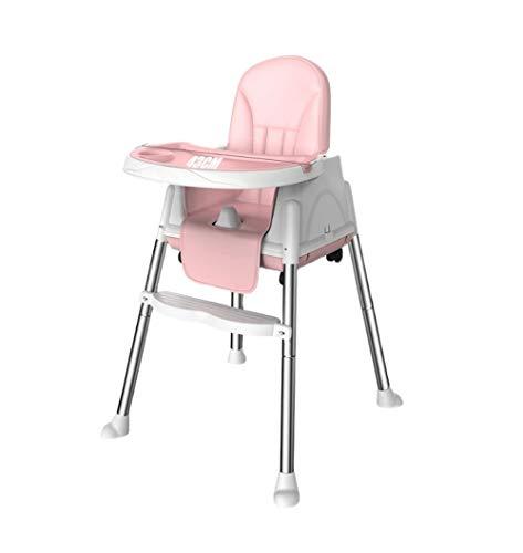 ZOUSHUAIDEDIAN Tragbarer Hochstuhl, Babyhochstühle Safe Mahlzeit Tablett Kleinkind oder EIN Esszimmerstuhl für Ihr Baby, multifunktionales Baby-Esszimmerstuhl, Rosa