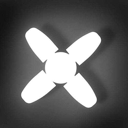Gesto B22 Ultra High Bright Portable Fan Shape with 3 Led Swings 45W Led Bulb CFL Upto 85% Energy Saving Adjustable Home,Commercial,Ceiling Light,Cool White Light-Pack of 1
