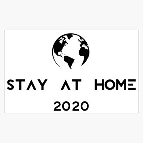 Stay at home 2020 | Covid-19 | Coronavirus Decal Vinyl Bumper Sticker 5'