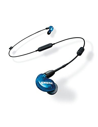 Shure SE215SPE-B-BT1-EFS Bluetooth In-Ear Kopfhörer mit passiver Geräuschunterdrückung für iOS und Android – Premium Ohrhörer mit warmem und detailreichem Klang – Special Edition Blau