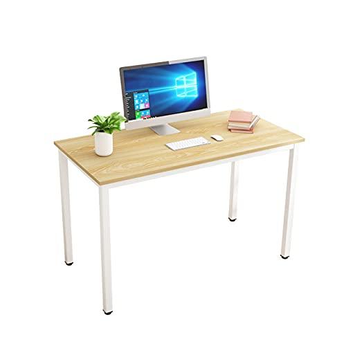 SogesHome Escritorio para ordenador de 120 x 60 x 75 cm PC oficina escritorio escritorio escritorio escritorio escritorio para la oficina en casa mesa de comedor, roble blanco ,SH-LD-AC120LO