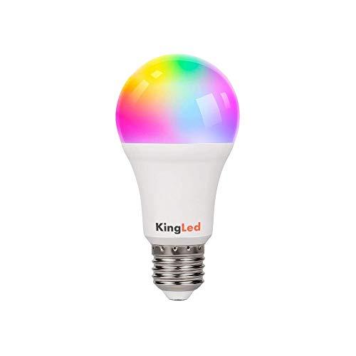 Kingled – Lampadina E27 WiFi – Bulbo Led A70 Attacco E27 11W 1050lm RGB+CCT - Smart WiFi Compatibile con Alexa, Google e Smartphone Serie KiWi