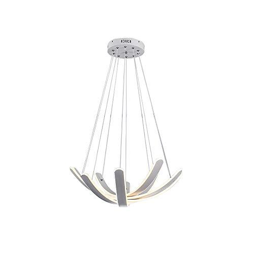 L.J.JZDY kroonluchter LED modern ovaal wit ijzeren silicone verstelbare ketting slaapkamer woonkamer restaurant studie kroonluchter lampen hanglamp