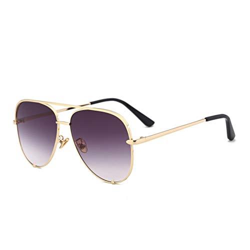 UKKD Gafas De Sol Gafas De Sol Rosadas Excelentes Gafas De Sol Diseñador Piloto Gafas De Sol Mujeres Hombres Sombras Gafas De Moda-C5 Gold Gray