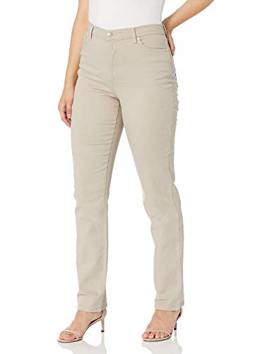 Gloria Vanderbilt Women's Classic Amanda High Rise Tapered Jean, Wheatfield, 14 Long