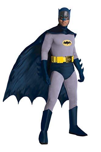 Rubie's Costume Batman Vintage Deluxe Adam West - Colore - Blu, Taglia - Taglia Unica