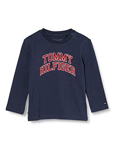 Tommy Hilfiger Baby Hilfiger tee L/s Camisa, Blue, 86 para Bebés
