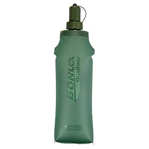 Su-xuri 250/500 ml Botella flexible plegable de agua para trail Running Trekking, sin BPA, botella plegable de TPU para hidratación, pack de senderismo, escalada en bicicleta