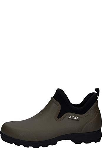 Aigle Gummistifeletten Lessfor Plus M kaki, 46, Oliv/grün
