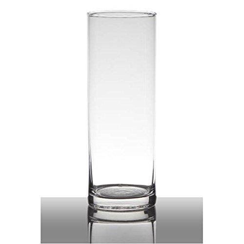 Hakbijl Dekoglas, Vase Zylinder H. 24cm D. 9cmtransparent rund Glas