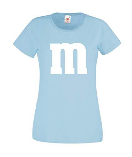 Nation JGA - Camiseta de Cuello Redondo para niña, Carnaval, Disfraz de Grupo con impresión M Azul Claro 140
