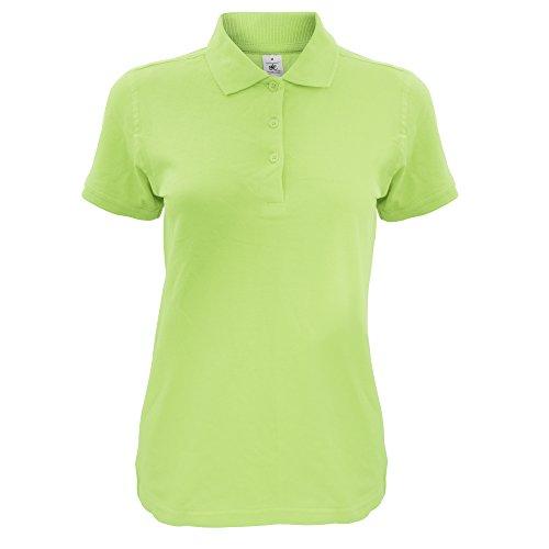 B&C Damen Women's Safran Timeless Polo Poloshirt, Grün (Pistachio 000), 42 (Herstellergröße: X-Large)