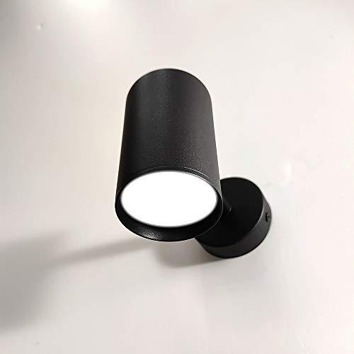 FactorLED Pack x2 Lámpara Techo Led Negro Ajustable y Rotatorio Bombillas GU10,...