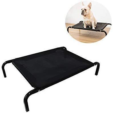 Eenvoudige montage, verhoogde koeling voor huisdieren, wasbaar, babybed, kitty, hangmat, hond, ademend, voor camping, picknick, L 114 x 76 x 20 cm, XL 130x80x20cm