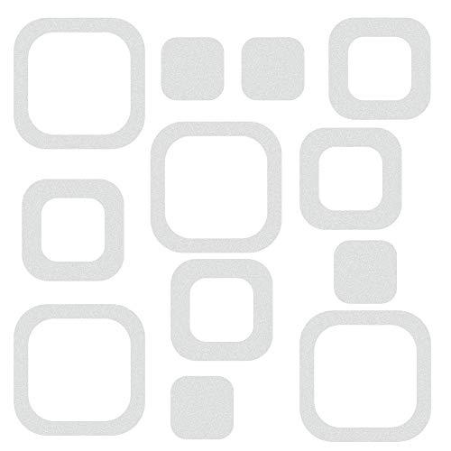 LYTIVAGEN 30 Stück Anti Rutsch Sticker für Badewanne Dusche Rutschfeste Aufkleber Antirutsch Sticker Badenzimmer 10/7,6/4,6 cm Durchmesser(Transparent)