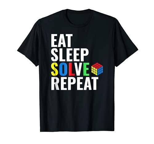 Eat Sleep Solve Repeat Rubik Camiseta Camiseta