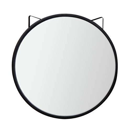 Miroir Rond De Salle De Bains, Miroir De Courtoisie De Salle De Bains, Miroir Mural DéCoratif De Vanité De Chambre à Coucher (Noir)