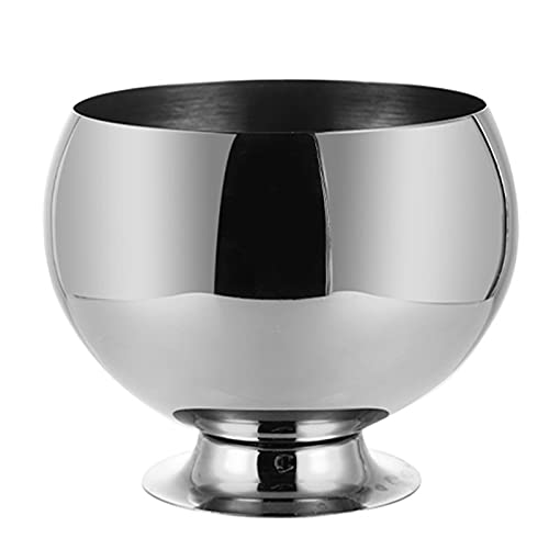 Ice Buckets,Stainless Steel Double Walled Bar Container,Home Party Drink Bucket Desktop Storage Bucket Bar Restaurant Beer Champagne Round