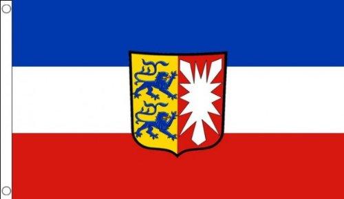 AZ FLAG Flagge Schleswig-Holstein 90x60cm - Schleswig-Holstein Fahne 60 x 90 cm - flaggen Top Qualität