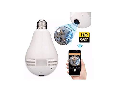 Câmera Ip Segurança Lâmpada 360 Panorâmica Espiã Wifi V380