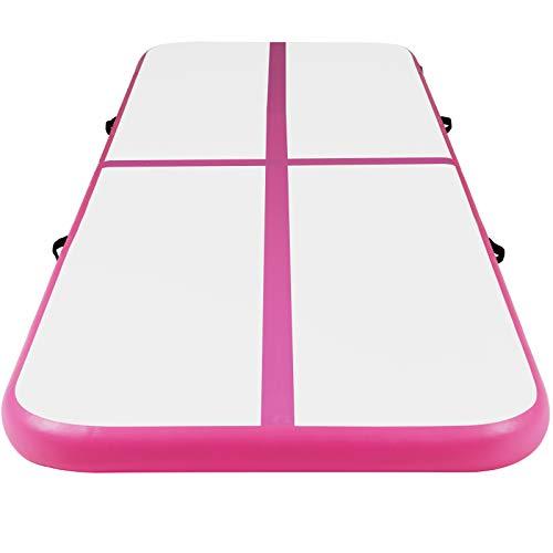 AIR Matte Track - Esterilla hinchable, 10 cm de alto, con bomba eléctrica, PVC, color a elegir, tamaño: 3, 4, 5, 6 m