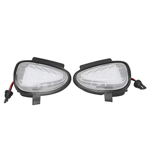 Cosiki Lámpara de Espejo retrovisor, señal de Giro de Espejo de Puerta, luz Exterior Impermeable para Coche, Apta para Touran 2011-2014, Piezas de Coche para MK6 R 2008-2014