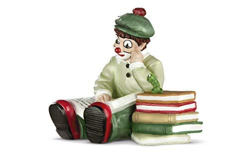 Gildeclown Figur Bücherwurm 10cm ein echter Hingucker und ein tolles Geschenk für alle Lesefreunde