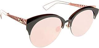 EYM (AP) Matte Black Coral - Grey Multichrome Pink Gold Size 55 كريستيان ديور نظارة شمسية للنساء ديوراماكلوب