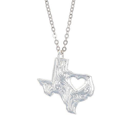 Montana Silversmiths I Heart Texas Necklace (NC2370TX)